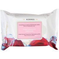 KORRES Pomegranate Cleansing Wipes Oily/Combination Skin 25 Wipes