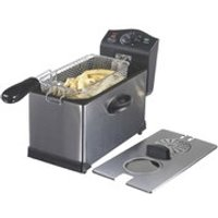 Swan SD6040N Stainless Steel Fryer with Viewing Window - 3L