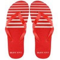 Bravesoul Mens Coast Flip Flops - Red - 6/7
