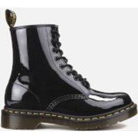 Dr. Martens Womens Core 1460 W 8-Eye Patent Lamper Boots - Black  - UK 5 - Black