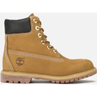 Timberland Womens 6 Inch Premium Leather Boots - Wheat - UK 4