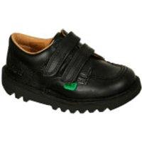 Kickers Junior Kick Lo Velcro Strap Shoes - Black - UK 1 Junior/EU 33