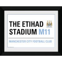 Manchester City Street Sign - 16 x 12 Framed Photographic