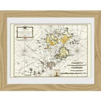 Maps Isle Of Scilly - 30 x 40cm Collector Prints