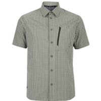Berghaus Mens Lawrence Short Sleeve Shirt - Green/White Check - S
