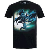 DC Comics Mens Batman Reaching Jump T-Shirt - Black - S