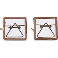 Nkuku Tiny Danta Frame - Antique Copper - Set of 2 - 5 x 5cm