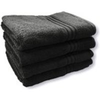 Restmor 100% Egyptian Cotton 4 Pack Bath Sheets (500gsm) - Black