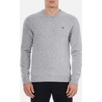 Lacoste Mens Basic Crew Knitted Jumper - Grey - XXL