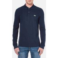 Lacoste Mens Basic Pique Long Sleeve Polo Shirt - Navy - S
