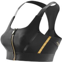 Skins A400 Womens Compression Crop Top - Black/Gold - M
