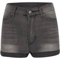 Cheap Monday Womens Short Skin High-Waist Denim Shorts - Grey - W24