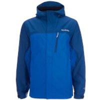 Columbia Mens Pouring Adventure Waterproof Jacket - Hyper Blue/Marine Blue - XL