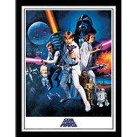 Star Wars: A New Hope - One Sheet - Framed 30x40cm Print