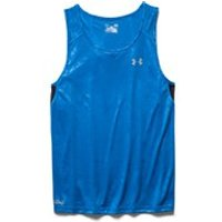 Under Armour Mens Coldblack Running Singlet - Blue Jet/Black/Reflective - XXL