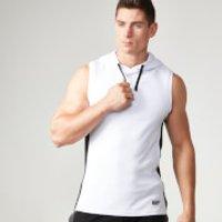 Image of Myprotein Men's Hood Singlet - White - S - White
