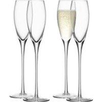 LSA Wine Champagne Flutes - 200ml (Set of 4)