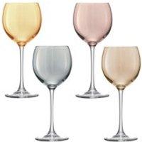 LSA Polka Metallics Wine Glasses - 400ml (Set of 4)