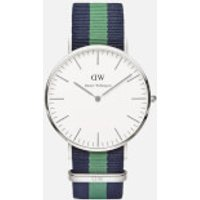 Daniel Wellington Classic Nato Warwick Silver Watch - Navy/Green