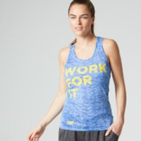 Myprotein Womens Burnout Vest, Blue, 12