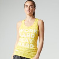 Myprotein Womens Burnout Vest, Yellow, 10