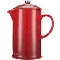 Le Creuset Stoneware Cafetiere Coffee Press - Cerise