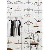 NLXL Obsession Hangers Wallpaper Roll by Daniel Rozensztroch - Multi