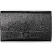 Aspinal of London Travel Classic Wallet - Black Lizard