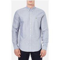 Lacoste Mens Oxford Long Sleeve Shirt - Navy - M-L/41cm