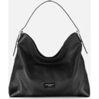 Aspinal of London Womens A Hobo Bag - Black Pebble