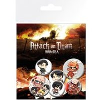 Attack On Titan Mix - Badge Pack