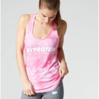 Myprotein Womens Tie Dye Stringer Vest, Blue, L/UK 12