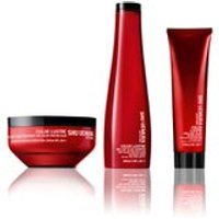 Shu Uemura Art of Hair Color Lustre Color Lustre Sulfate Free Shampoo (300ml), Masque (200ml) and Thermo-Milk (150ml)