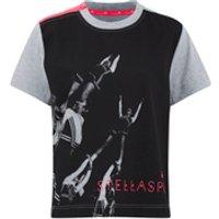 adidas Womens Stella Sport Gym Print Photo T-Shirt - Grey - XXS