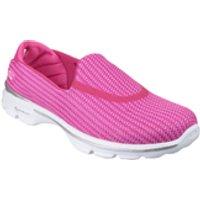 Skechers Womens GOwalk 3 Pumps - Pink - UK 4 - Hot Pink