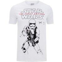 Star Wars Mens Stormtrooper Sketch T-Shirt - White - S