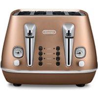 DeLonghi CTI4003.CP Distinta 4 Slice Toaster - Copper Finish