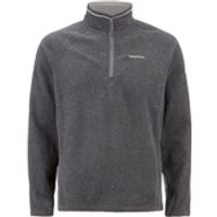 Craghoppers Mens Selby Half Zip Microfleece Jumper - Black Pepper Marl - XL