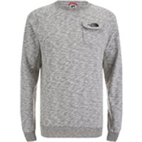The North Face Mens Long Sleeve Pocket T-Shirt - Medium Grey Heather - XL