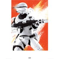 Star Wars: Episode VII - The Force Awakens Flametrooper - 60 x 80cm Paint Art Print