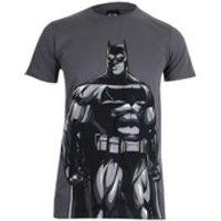DC Comics Mens Batman v Superman Batman T-Shirt - Charcoal - XL