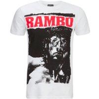 Rambo Mens Stare T-Shirt - White - XL