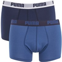Puma Mens 2 Pack Basic Trunks - Navy/Royal - S