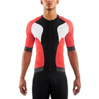 Skins Cycle Mens Tremola Due Short Sleeve Jersey - Black/White/Red - XXL
