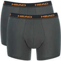 Head Mens 2-Pack Boxers - Charcoal - M