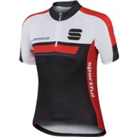 Sportful Gruppetto Childrens Short Sleeve Jersey - Black/Red - 8 Years