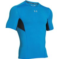 Under Armour Mens HeatGear CoolSwitch Compression Short Sleeve Shirt - Electric Blue - XXL
