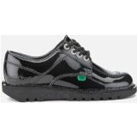 Kickers Womens Kick Lo Patent Lace Up Shoes - Black - UK 6/EU 39