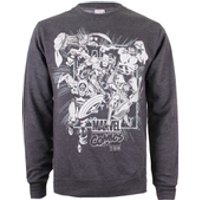 Marvel Mens Band of Heroes Sweatshirt - Dark Grey Marl - XXL
