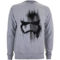 Star Wars Mens Storm Trooper Mask Sweatshirt - Light Grey Marl - XL